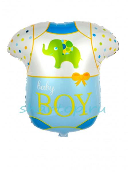 """Фольгированный шар """"Боди голубое"""" 61 см"""