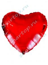 """Фольгированное Сердце """"Красное"""" 46см"""