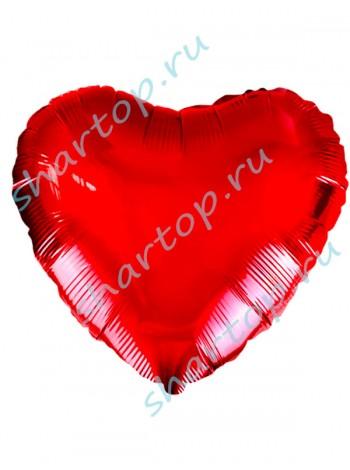 """Фольгированный шар """"Сердце Красное"""""""
