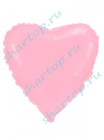 """Фольгированный шар с гелием """"Сердце Светло-Розовое"""""""