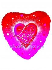 """Фольгированное сердце """"Love Сияние"""""""