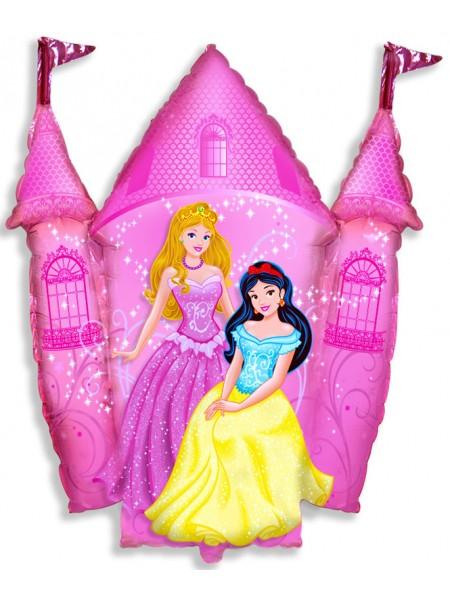 """Фольгированный шар с гелием """"Замок принцессы"""" 86 см"""
