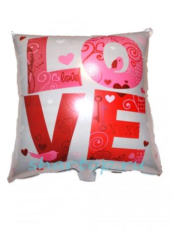 """Фольгированный подушка """"I Love You"""""""