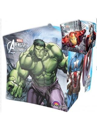 Шар 3D Куб Мстители  38 см