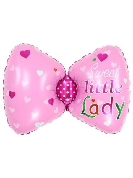 """Фольгированный шар с гелием """"Бантик для девочки"""" 74 см"""