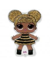 """Фольгированный шар с гелием """"Кукла Лол Королева"""" (LOL) QUEEN BEE №5 87 см"""