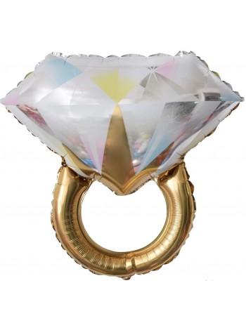Шар Кольцо с бриллиантом, Золото 69 см