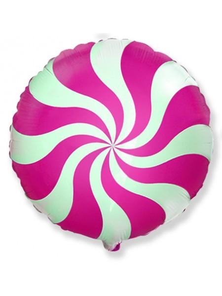"""Фольгированный шар """"Леденец Розовый"""" 46 см"""