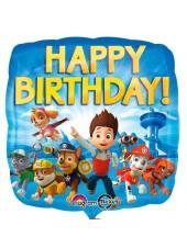Шар подушка Щенячий патруль Happy Birthday