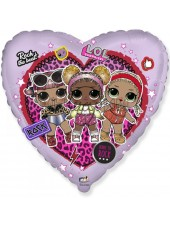 Шар Сердце Куклы ЛОЛ (LOL) ROCK 46 см