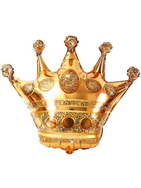 """Фольгированный шар с гелием """"Золотая Корона Большая"""" 86 см."""