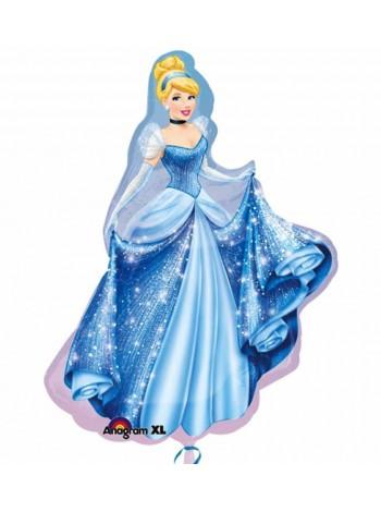 """Фольгированный шар с гелием принцесса """"Золушка"""" 102 см"""