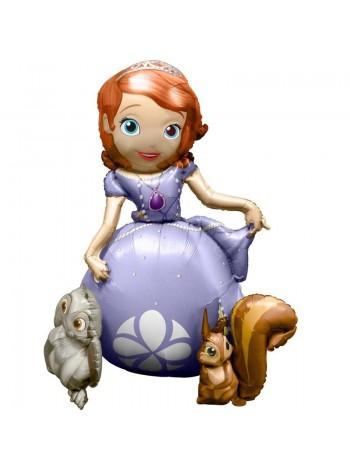 Ходячий шар Принцесса София 121 см с гелием