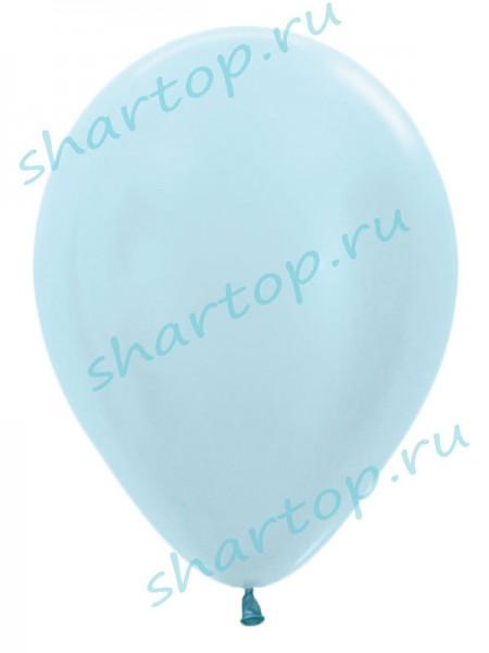"""Шары однотонные """"Перламутр Голубой"""""""