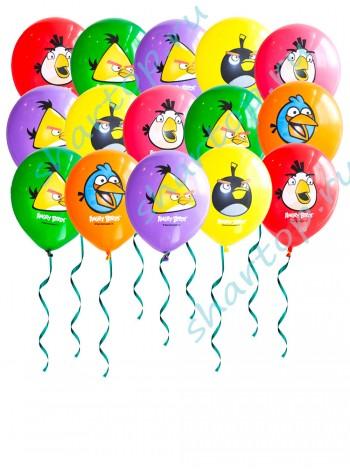 "Шары с гелием ""Angry Birds"" (Ангри Берс)   9 шт"