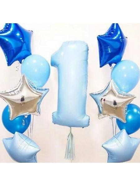 Композиция  из шаров  на 1 год