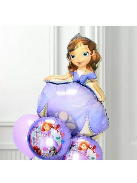 """Композиция  из шаров """"Принцесса София"""""""