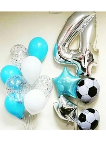 Композиция  из шаров с мячами