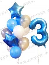 Набор шаров для мальчика на 3 годика