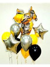 """Композиция из шаров с трансформером """"Бамблби Bambl Bee"""""""