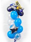 Композиция из шаров с мотоциклистом